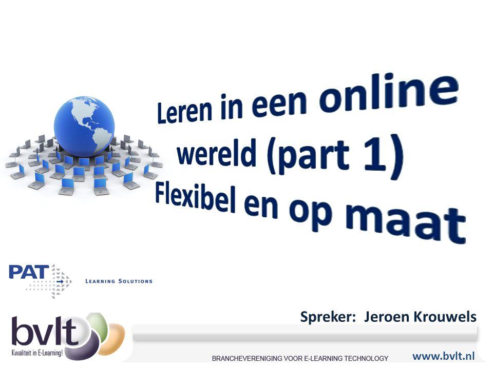 Leren in een online wereld (part 1)