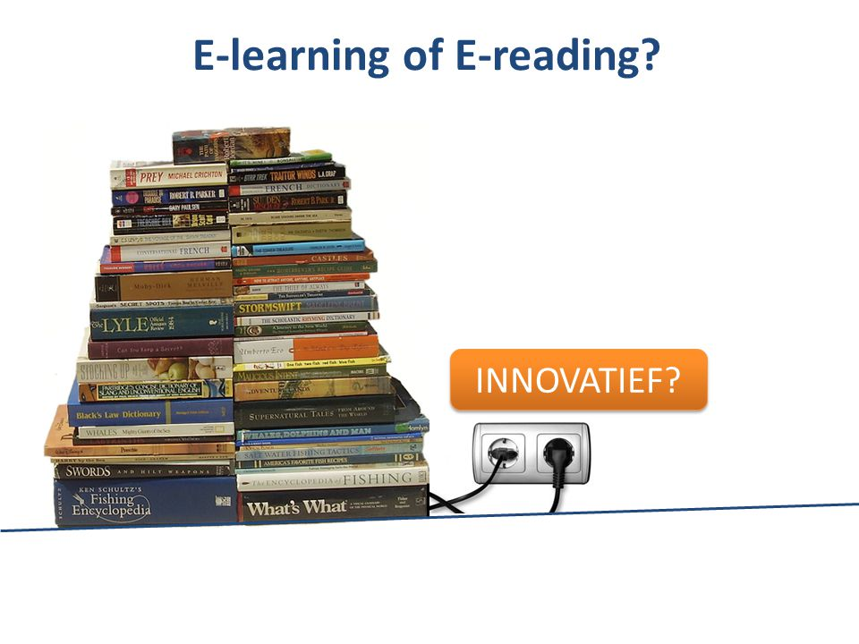 E-learning of E-reading