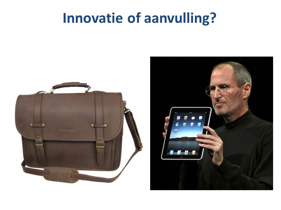 Innovatie of aanvulling