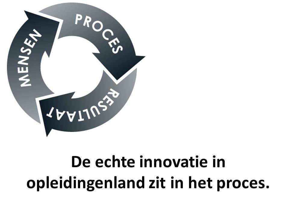 De echte innovatie in opleidingenland zit in het proces.