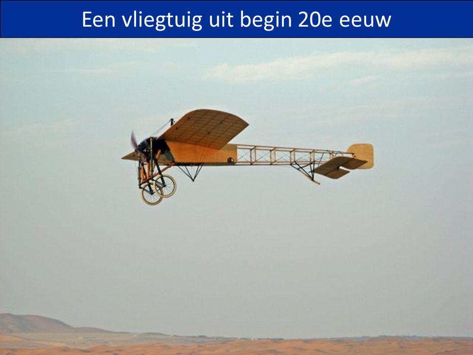 Een vliegtuig uit begin 20e eeuw