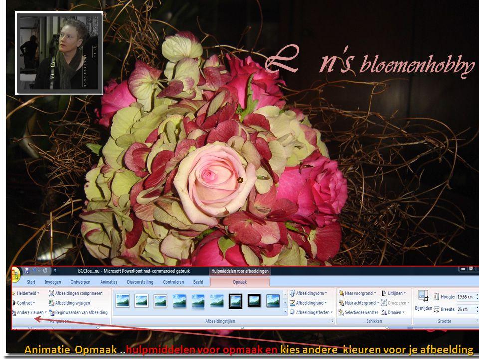 L n's bloemenhobby Animatie Opmaak ..hulpmiddelen voor opmaak en kies andere kleuren voor je afbeelding.