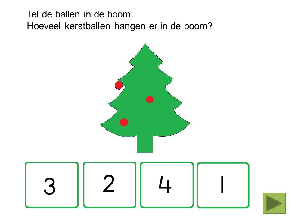 Tel de ballen in de boom. Hoeveel kerstballen hangen er in de boom