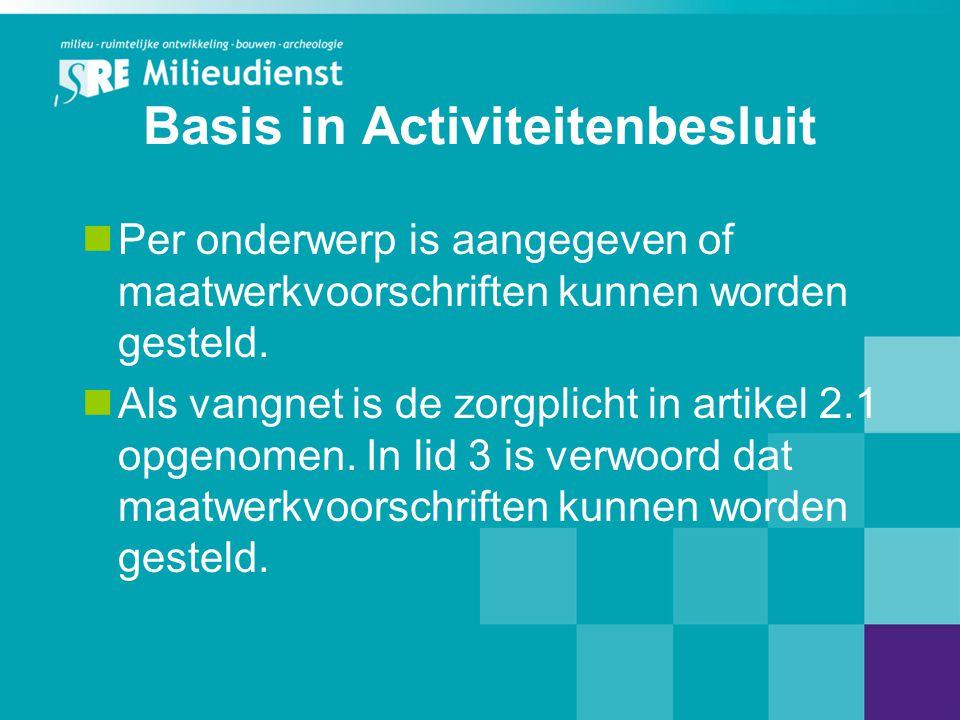 Basis in Activiteitenbesluit