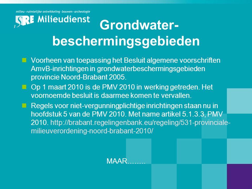 Grondwater- beschermingsgebieden