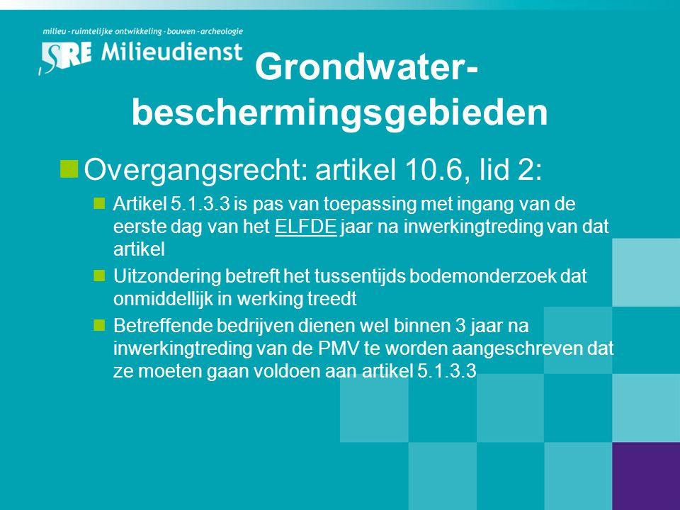 Grondwater-beschermingsgebieden