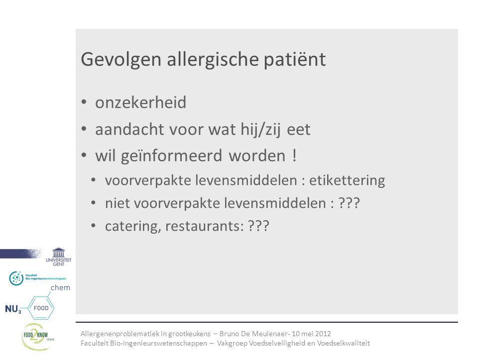 Gevolgen allergische patiënt