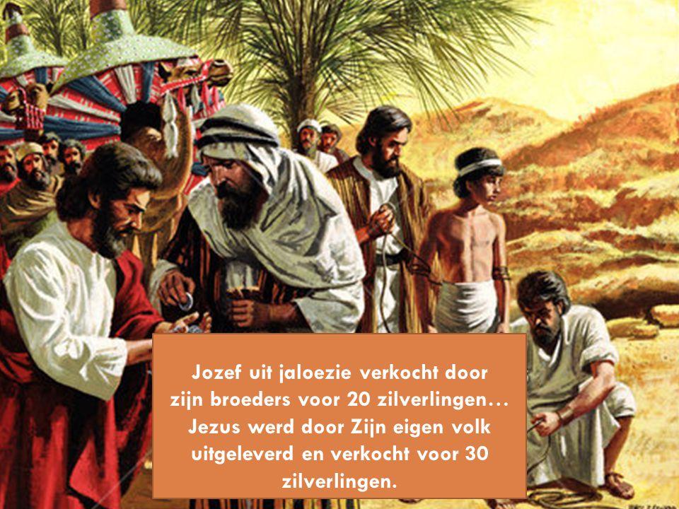 Jozef uit jaloezie verkocht door zijn broeders voor 20 zilverlingen…