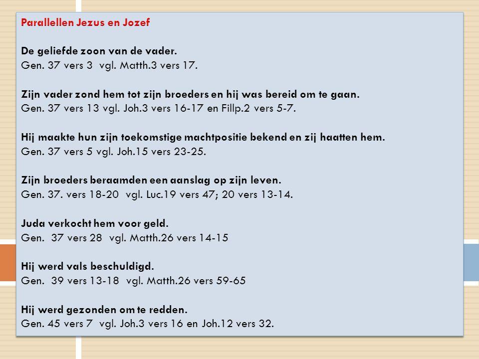 Parallellen Jezus en Jozef