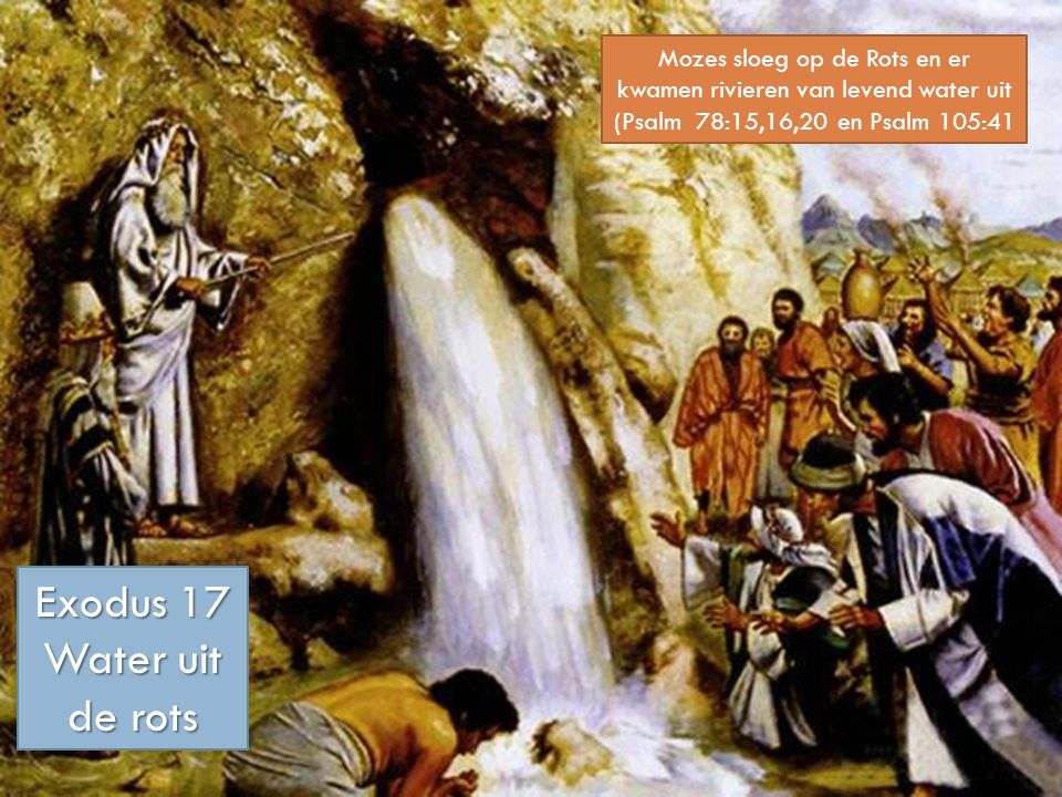 Exodus 17 Water uit de rots
