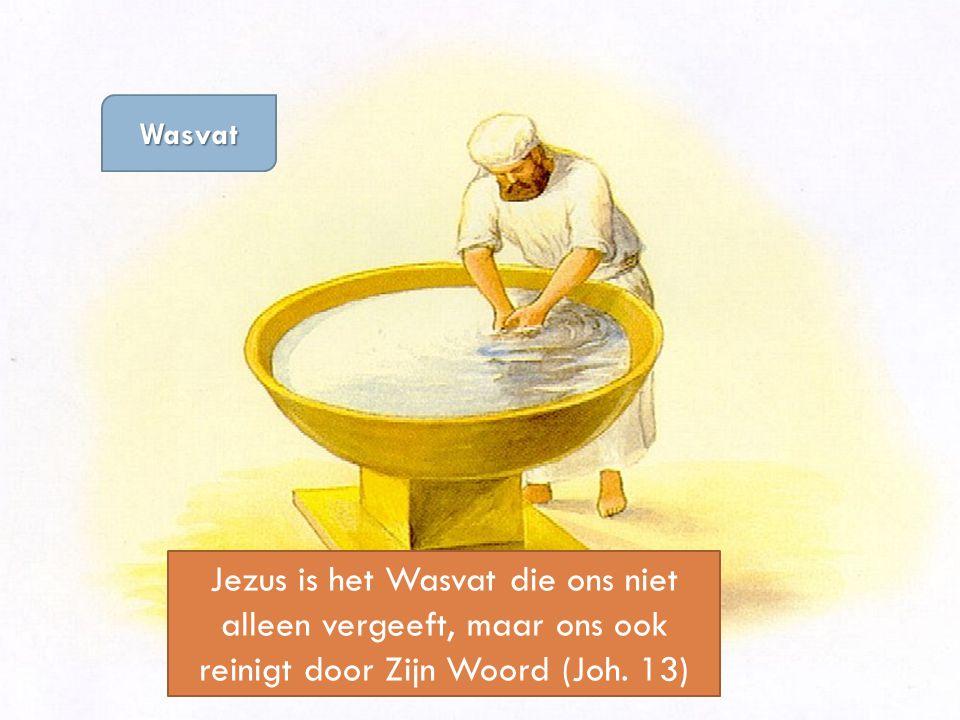 Wasvat Jezus is het Wasvat die ons niet alleen vergeeft, maar ons ook reinigt door Zijn Woord (Joh.