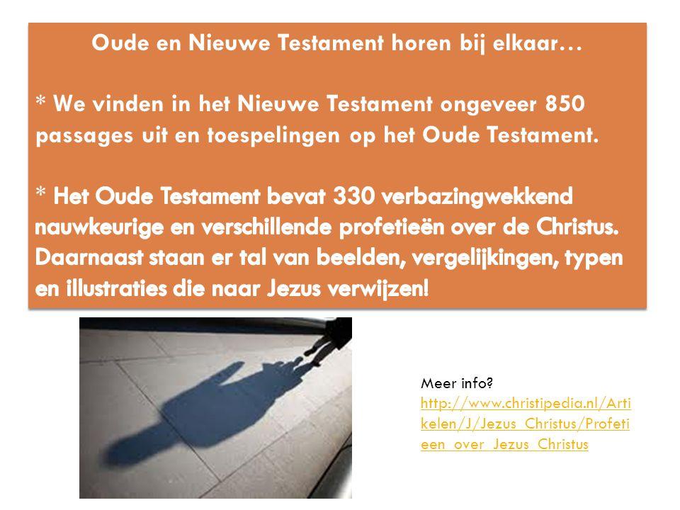 Oude en Nieuwe Testament horen bij elkaar…