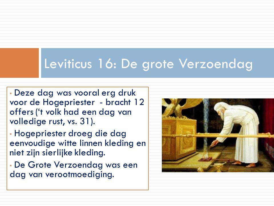 Leviticus 16: De grote Verzoendag
