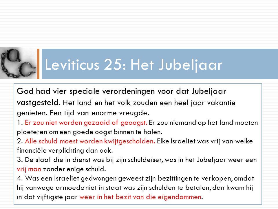 Leviticus 25: Het Jubeljaar