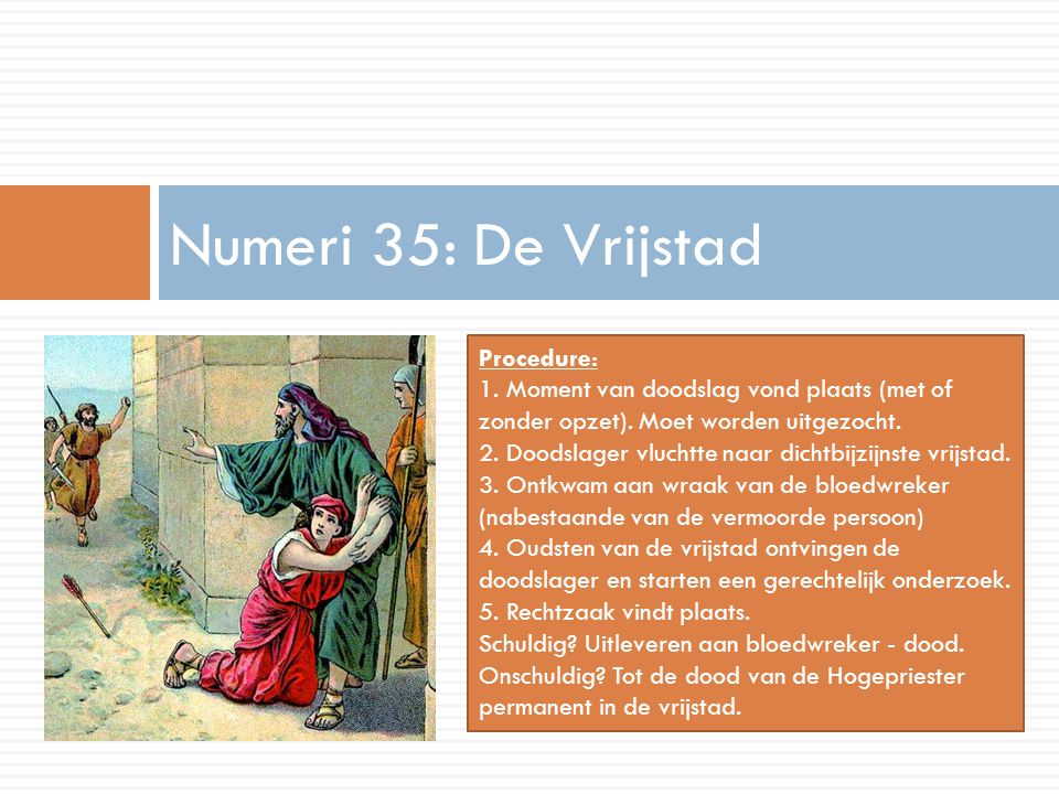 Numeri 35: De Vrijstad Procedure: