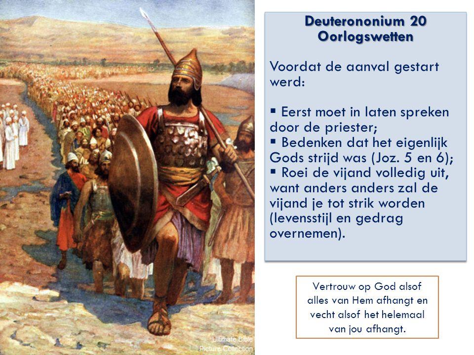 Deuterononium 20 Oorlogswetten