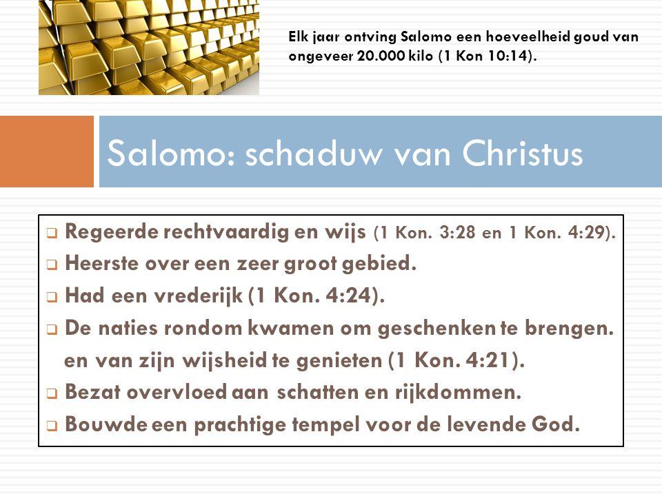 Salomo: schaduw van Christus