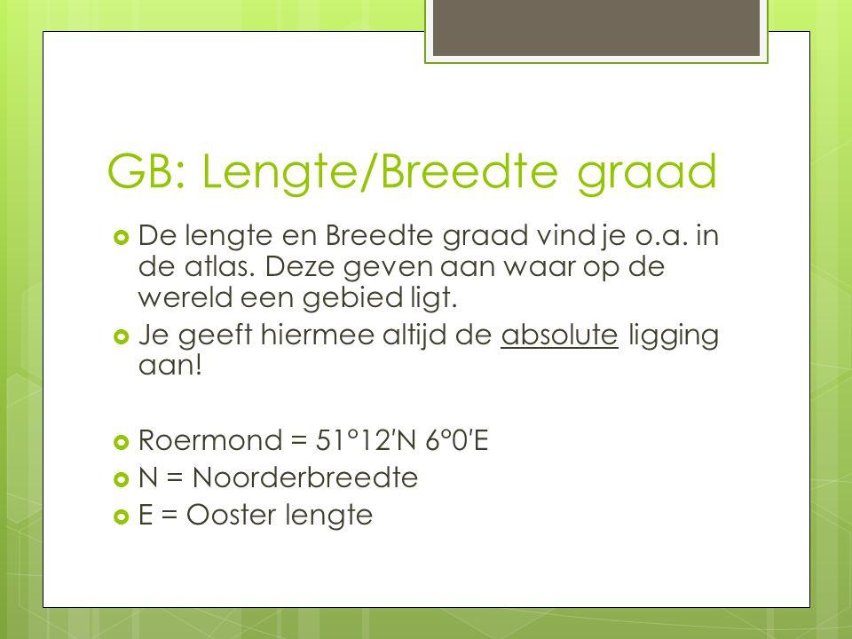 GB: Lengte/Breedte graad