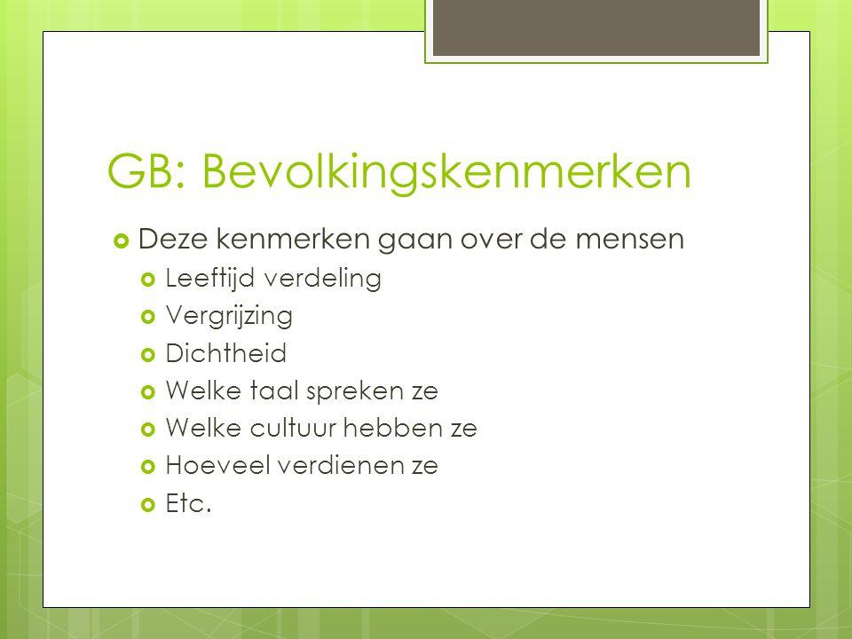 GB: Bevolkingskenmerken