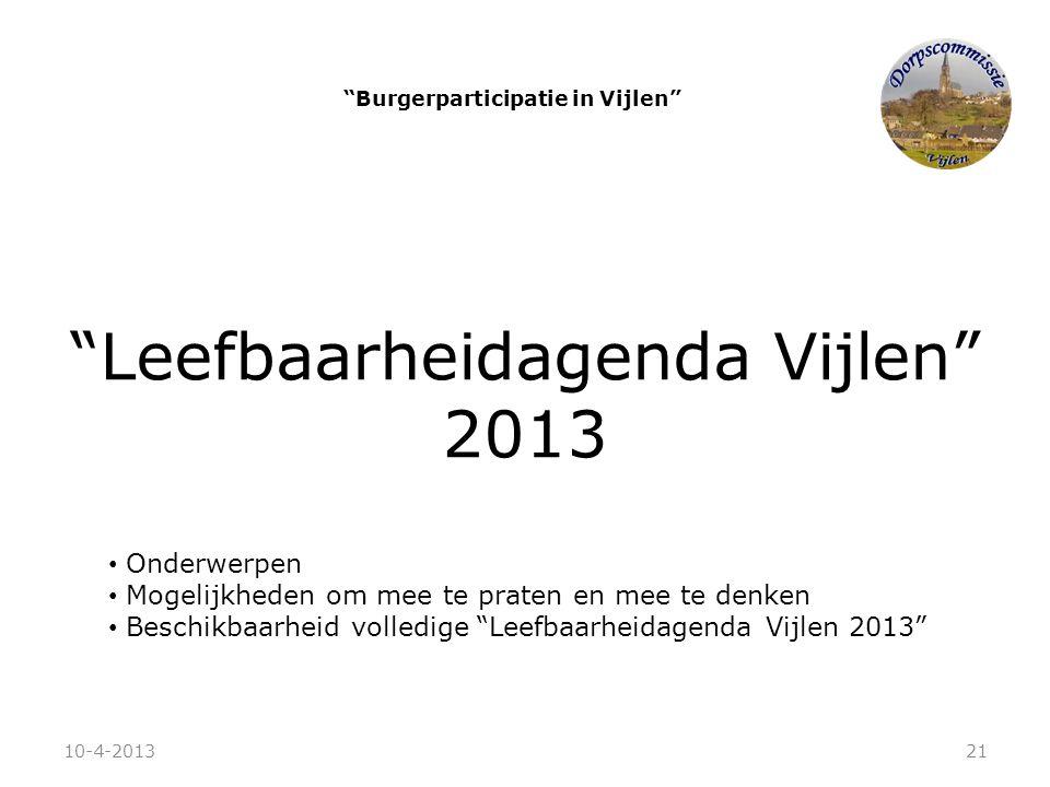 Burgerparticipatie in Vijlen