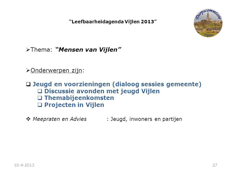 Leefbaarheidagenda Vijlen 2013