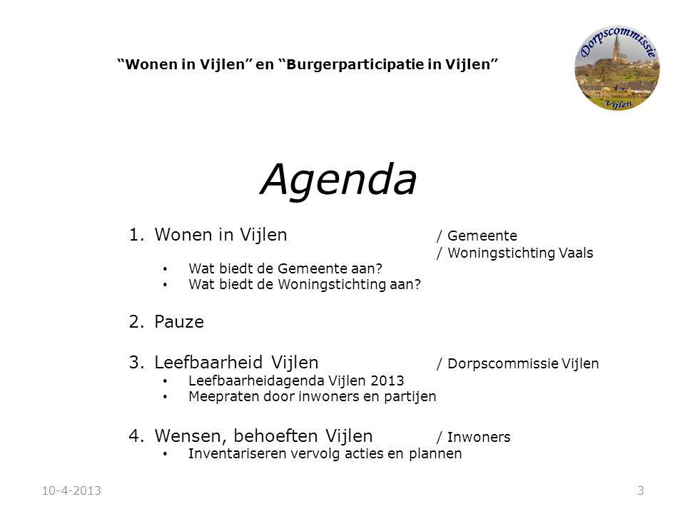 Wonen in Vijlen en Burgerparticipatie in Vijlen