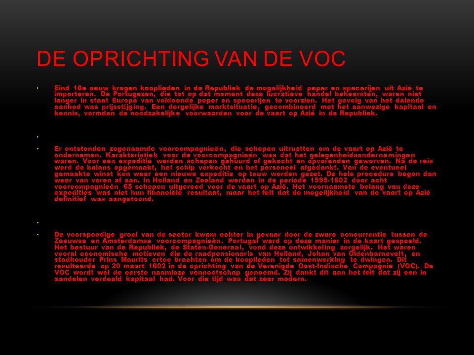 De oprichting van de VOC
