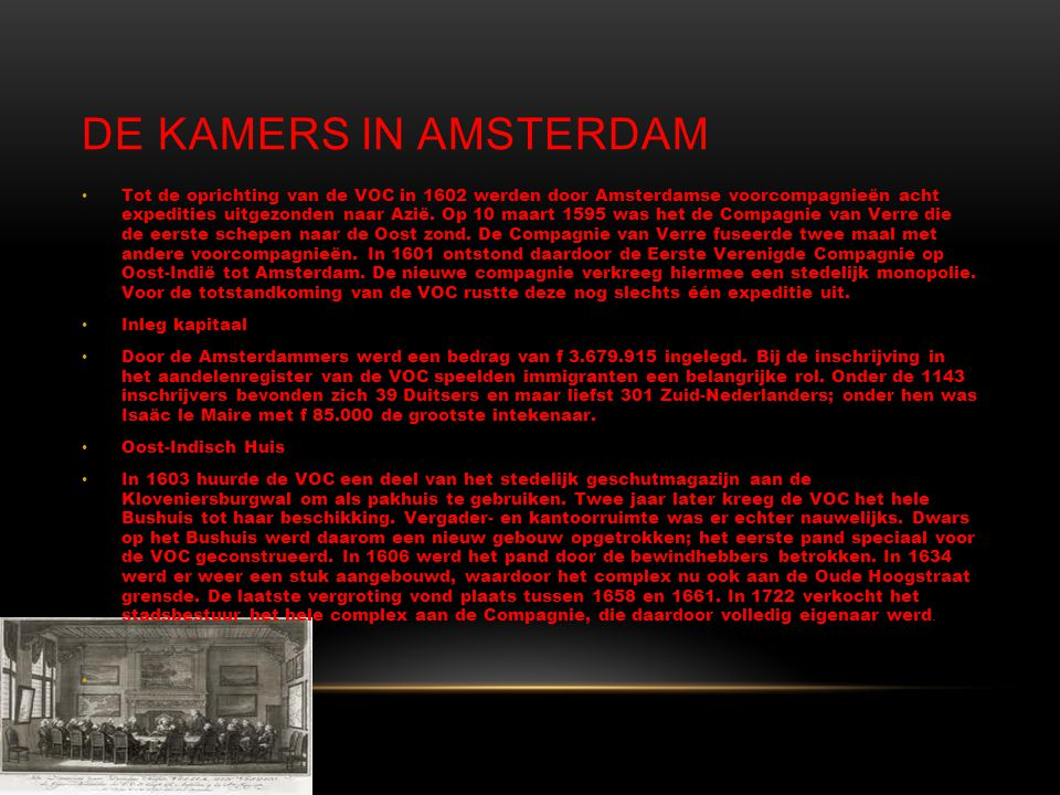 De kamers in Amsterdam