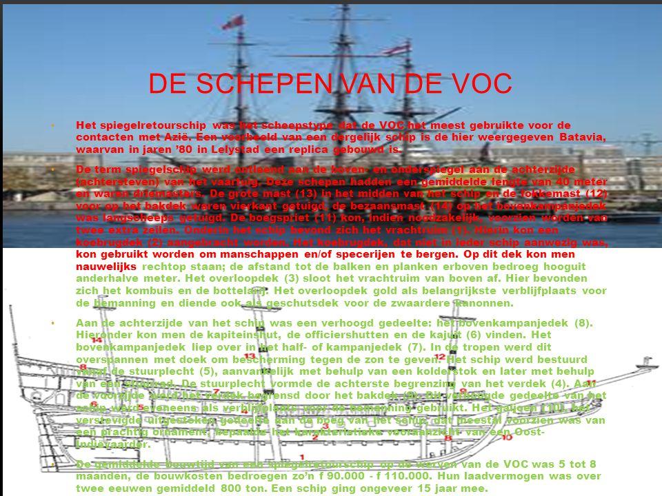 De schepen van de voc