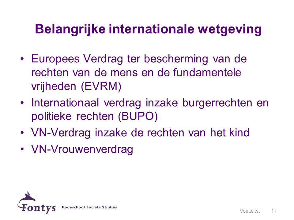 Belangrijke internationale wetgeving