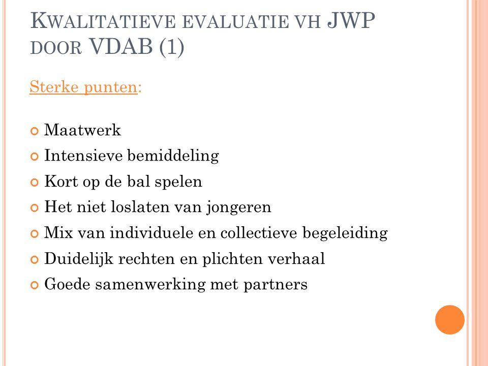 Kwalitatieve evaluatie vh JWP door VDAB (1)