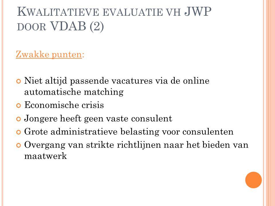 Kwalitatieve evaluatie vh JWP door VDAB (2)