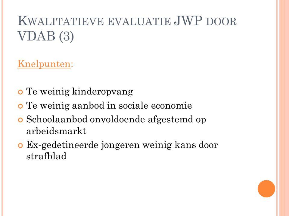 Kwalitatieve evaluatie JWP door VDAB (3)