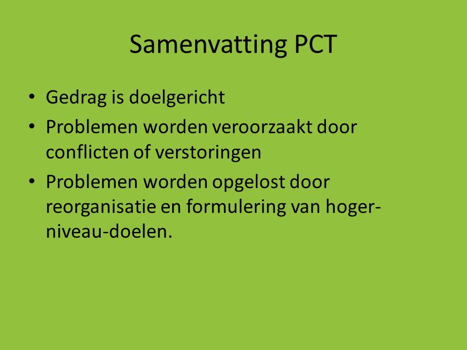 Samenvatting PCT Gedrag is doelgericht