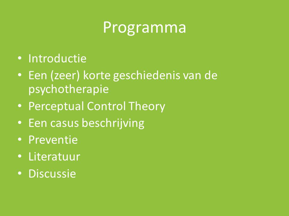 Programma Introductie