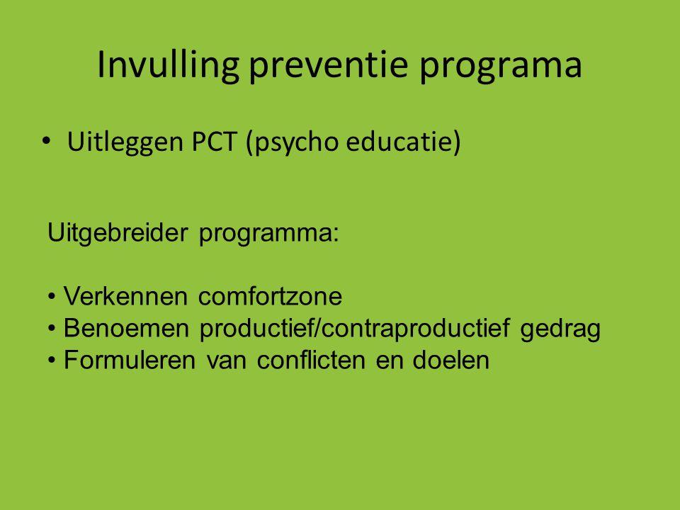 Invulling preventie programa