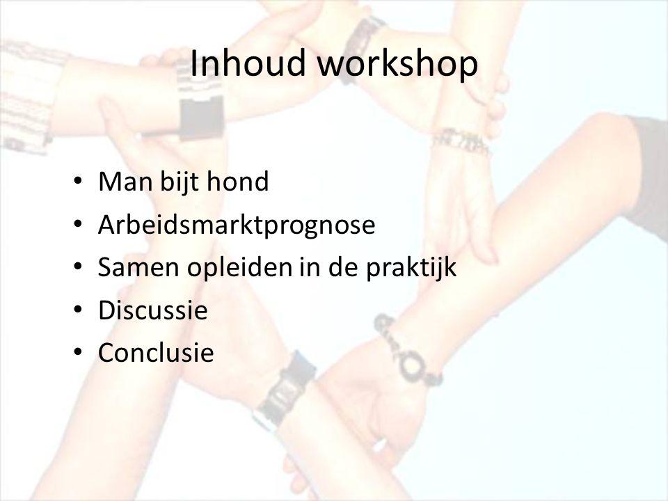 Inhoud workshop Man bijt hond Arbeidsmarktprognose