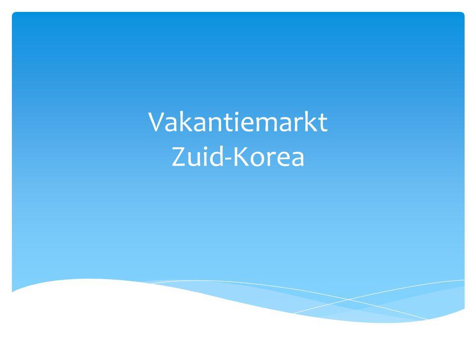 Vakantiemarkt Zuid-Korea