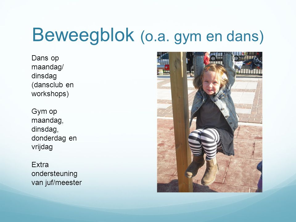 Beweegblok (o.a. gym en dans)