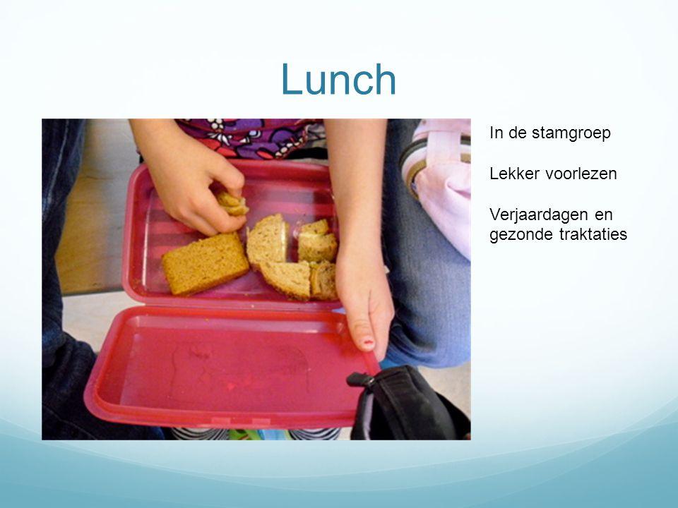 Lunch In de stamgroep Lekker voorlezen