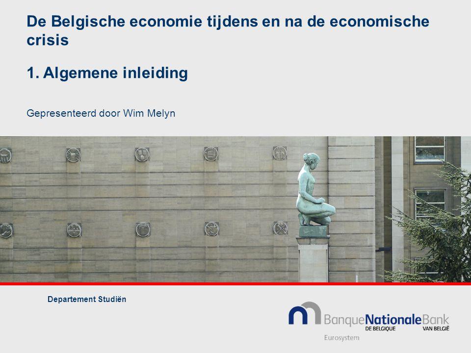 De Belgische economie tijdens en na de economische crisis