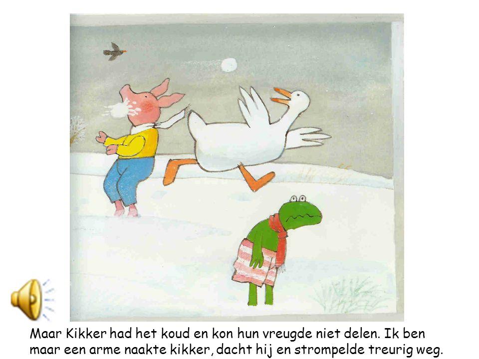 Maar Kikker had het koud en kon hun vreugde niet delen