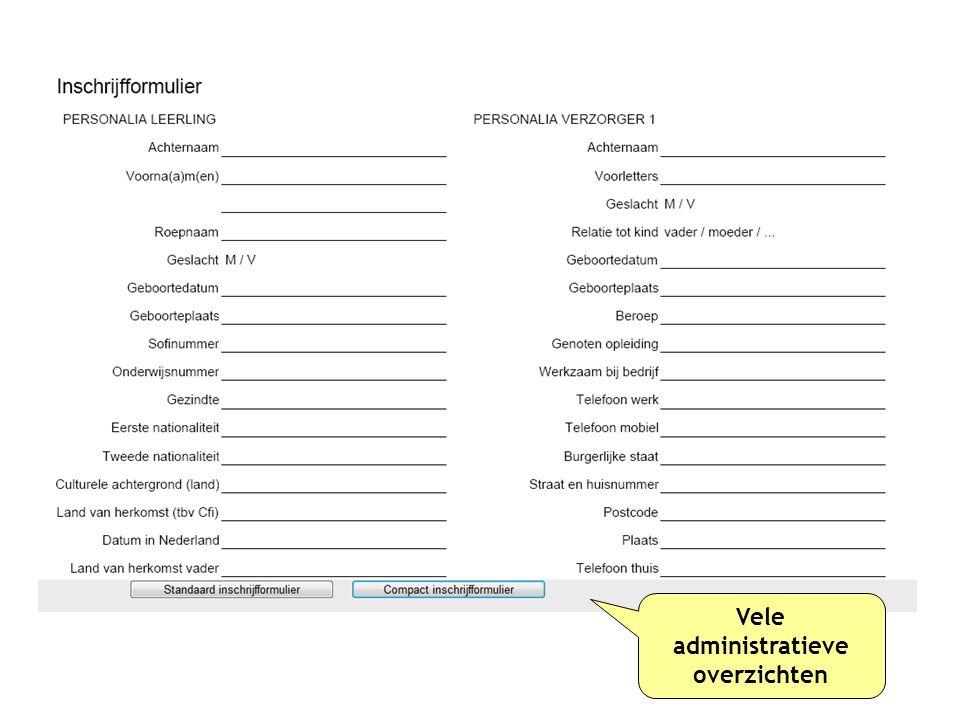 administratieve overzichten