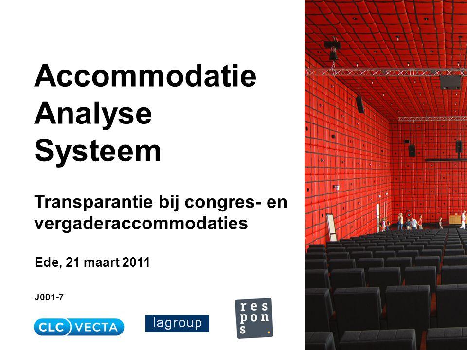 Systeem Transparantie bij congres- en vergaderaccommodaties