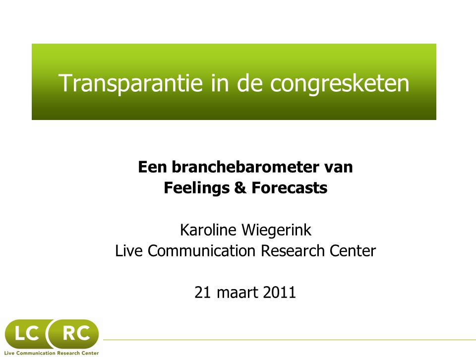 Transparantie in de congresketen