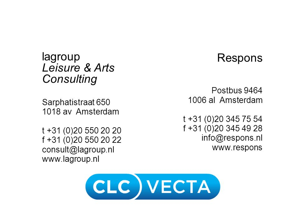 lagroup Leisure & Arts Consulting Respons