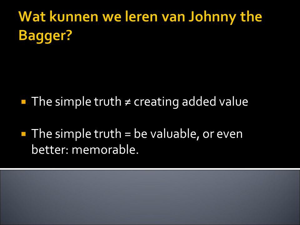 Wat kunnen we leren van Johnny the Bagger