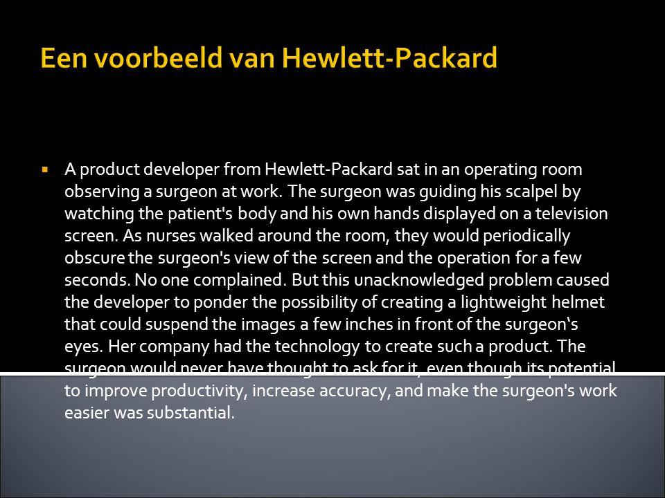 Een voorbeeld van Hewlett-Packard