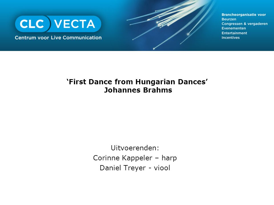'First Dance from Hungarian Dances' Johannes Brahms