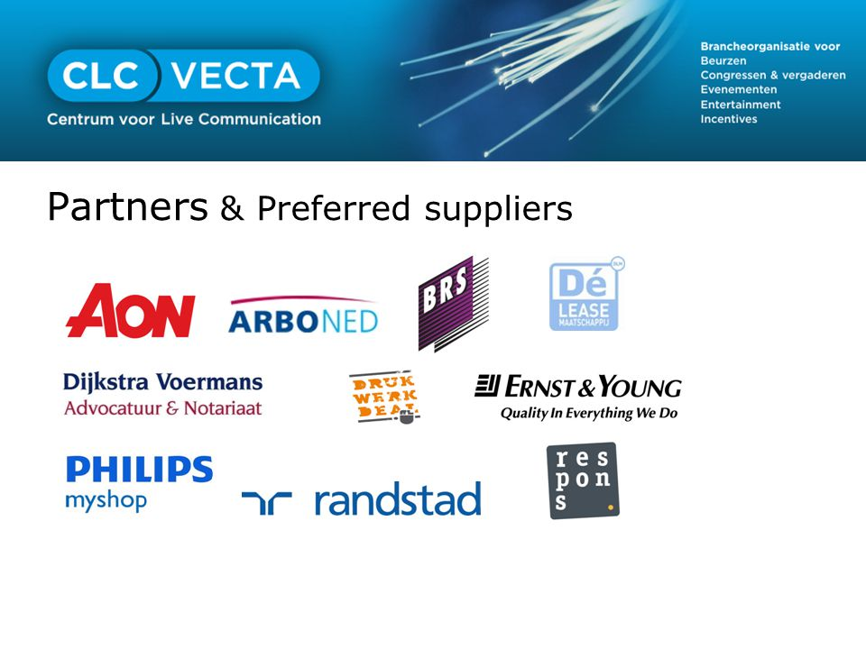 Partners & Preferred suppliers